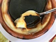 Budino di riso turco Sutlac Dessert turco tradizionale fotografie stock