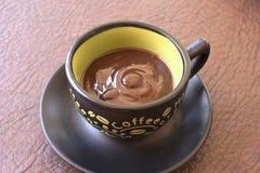 Budino tradizionale del fondente di cioccolato Fotografie Stock Libere da Diritti