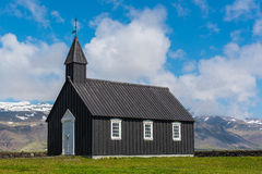 Budir. Church on the snaefellsnes peninsula in Iceland royalty free stock images