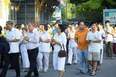 Budismo Magha Puja Day Fotografía de archivo libre de regalías