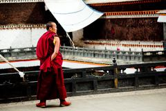 Budismo tibetano Lhasa Tibet do templo de Jokhang Imagem de Stock Royalty Free