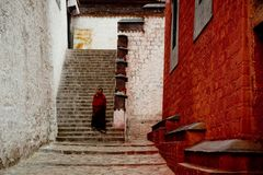 Budismo tibetano Lhasa Tibet do templo de Jokhang Foto de Stock Royalty Free