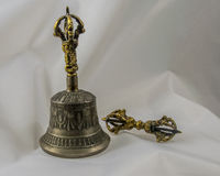 Budista Bell tibetana espiritual sagrado e Dorje Imagem de Stock