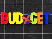 budjget mistake budget magnetic letter on blackboard chalkboard stock images