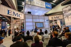 Budka EMC firma przy wystawą Oracle OpenWorld konferencja zdjęcia royalty free