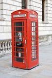 budka London czerwieni telefon obraz royalty free
