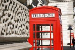 budka London czerwieni telefon Obrazy Royalty Free