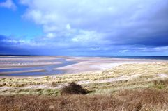 Budle Bay in Northumberland. Budle bay at low Tide in Northumberland Royalty Free Stock Image