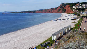 Budleigh Salterton ένας δημοφιλής προορισμός διακοπών στην Αγγλία στοκ εικόνες