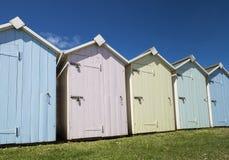 Budleigh Salterton Beach Huts. Beach huts at Budleigh Salterton, Devon, UK Royalty Free Stock Photo