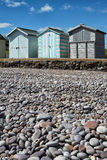 Budleigh Salterton Beach Huts. Beach huts at Budleigh Salterton, Devon, UK Royalty Free Stock Images