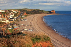 Budleigh Salterton beach Stock Images