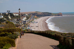 Budleigh Salterton Devon Coast do leste Reino Unido fotos de stock