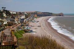 Budleigh Salterton Devon Coast England UK royaltyfri fotografi