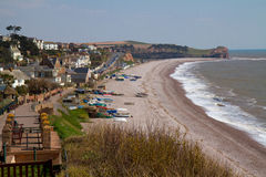 Budleigh Salterton Devon Coast England UK Royalty Free Stock Photography