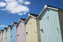 Budleigh Salterton plaży budy Obraz Stock