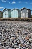 Budleigh Salterton plaży budy Obrazy Royalty Free
