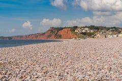 Budleigh Salterton, Jurassic Coast, Devon, UK stock images