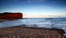 Budliegh Beach at sunset Royalty Free Stock Photos