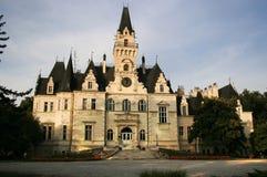 budmerice城堡公园村庄 免版税库存图片