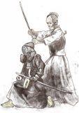 Budo krigare Royaltyfri Bild