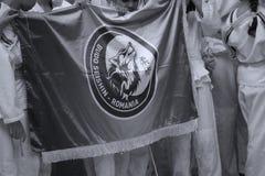 Budo Seishin Jiu Jitsu drużyny mienia klubu flaga Zdjęcie Royalty Free