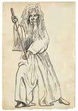 Budo warrior. Budo, Japanese martial art. A hand drawn illustration of budo warrior Stock Photos