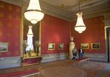 Budoir di rosso della galleria di Albertina Immagine Stock Libera da Diritti