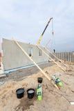 Budować formalnie Izolującego panelu Ramowego dom Obrazy Royalty Free