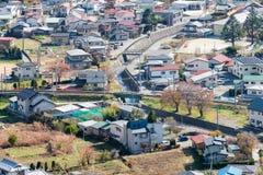 Budować mieszkaniowy czyści przy Yaman i ordynans w jesień sezonie fotografia royalty free