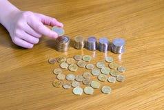 Budować monetę góruje Zdjęcie Stock