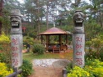 Budować nową pagodę w Baguio ogródzie botanicznym, Baguio, Filipiny zdjęcie stock