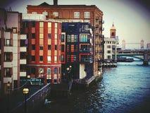 Budować nowożytną centrum miasta Londyn budowę Obraz Royalty Free