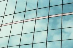 Budować pięknego szkło okno. Zdjęcia Stock