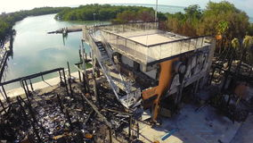 Budować po niszczącego pożarniczym powietrznym materiałem filmowym zbiory
