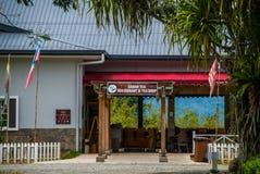 Budować restauracyjną pobliską Malezyjską herbacianą fabrykę i sklep Sabah borneo Fotografia Stock