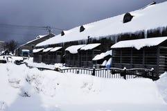 Budować w śniegu Fotografia Stock