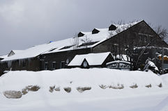 Budować w śniegu Obraz Royalty Free
