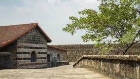 Budować wewnątrz Intramuros, fort Santiago, Manila, Filipiny zdjęcia stock