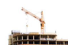 budowa żuraw fotografia royalty free