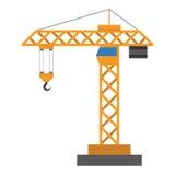 Budowa żuraw w płaskim stylu Zdjęcie Stock