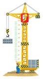 Budowa żurawia metru ściana lub wzrost mapa ilustracja wektor