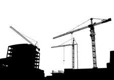 budowa żurawie ilustracja wektor