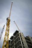 Budowa żurawie Zdjęcia Stock