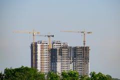 Budowa żurawie przy pracą Fotografia Stock