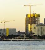 Budowa żurawie w użyciu Zdjęcie Stock