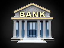 Budowa bank ilustracja wektor