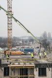 Budowa betonu pompować Obrazy Royalty Free