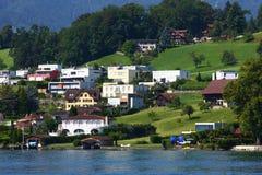 Budować blisko Lucerna jeziora Obrazy Royalty Free