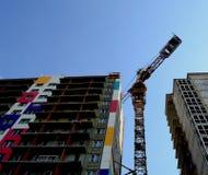 Budowa budynek mieszkalny Zdjęcia Royalty Free